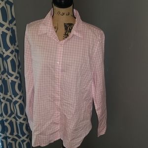 Pink and White Gingham Shirt